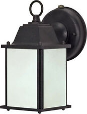 Textured Black With Frosted Beveled Glass Exterior Energy Star Wall Light