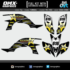 Yamaha YFZ 450 ATV Quad graphic decals stickers kit 2003-2008 Fly