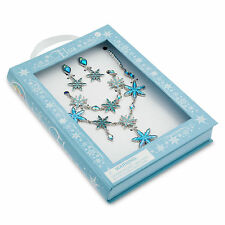 Disney Store Frozen Elsa Princess Jewelry Costume Necklace Earrings Bracelet Set