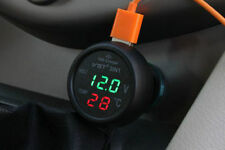 NEW 3In1 Digital Thermometer LED Voltmeter 2.1A USB Car Charger Battery Monitor