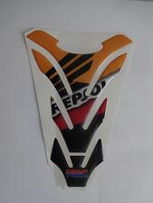 Motorcycle Tank Pad Protector Sticker | (Repsol) HRC
