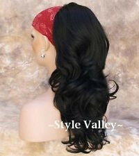 Black Ponytail Extension Hairpiece Long Wavy Hair Piece Drawstring comes w/clip
