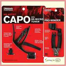 D'Addario Planet Waves NS Artist Capo with Micro Tuner & Pro String Winder