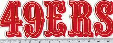 """San Francisco 49ers Patch """"49ERS"""" (sew or iron on) Patch Throwback 4"""" high"""