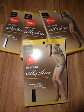 Hanes control top shaping pantyhose ~ jet black 145-190 pounds Large