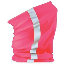 Beechfield Unisex Multi-use Enhanced-Vis Morf Sports Winter Fluro Pink.