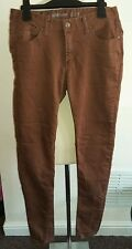 Denim co brown super skinny jeans size 10