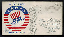 1944 USA Patriotic Cover US Army APO In the Ring Until We win to Mansfield Ohio