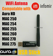 Wireless WiFi USB Dongle Stick Aura HD MAG 250 254 255 260 270 275 IPTV OTT Box