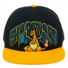 Pokemon Charizard Black Orange Snapback Adult Embroidered Hat Cap