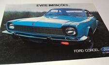 1976 ?   FORD CORCEL   of BRAZIL  Sales Leaflet  - RARE