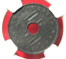 NGC MS-63 NAZI SWASTIKA 1940-A REICHSKREDITKASSEN COIN-Germany 3rd-REICH MINT!!