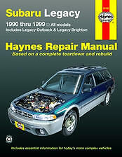 Subaru Legacy Haynes Repair Manual covering all 1990 thru 1999 Legacy # 89100