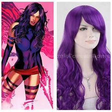 Cosplay Wig Lady Long Wavy Curly Synthetic Hair Costume Party Full Wig Purple