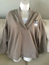 BOBBIE BROOKS Womens Size Small 6-8 Beige Long Sleeve Layered Look Top Shirt NEW