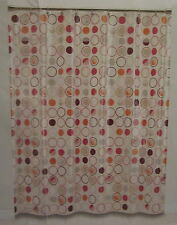Fun Dots Saturday Knight Pinks Oranges Brown Peva Shower Curtain