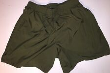 USMC SOFFE MARINES PT MARINES Green MICROFIBER SHORT TRUNKS MARINES S Excellent