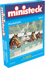 Ministeck Pixel Puzzle (31703): Horses Heads (4in1) 1400 pieces