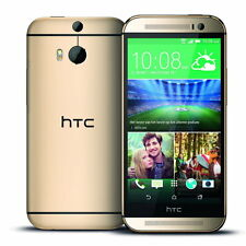 "HTC One M8 Android 5"" HD 32 Go Double 4 Mpx 4G LTE NFC neuf libre french or"