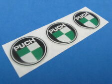 PUCH MOTORCYCLE LOGO DOMED DECAL EMBLEM STICKER SET OF THREE #209