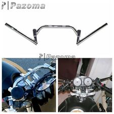 Adjustable Adjustment Cafe Racer Clubman Chrome Handlebars 7/8 Inch CB GS XS KZ