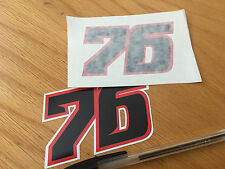 Baz Race Number 76 - (pair)