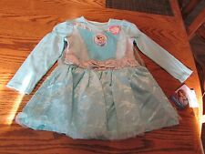 Disney Frozen Elsa Toddler Girl Dress with Cape  Size 2T, NWT