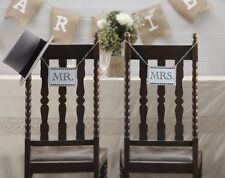 Mr and Mrs Vintage Wedding Signs
