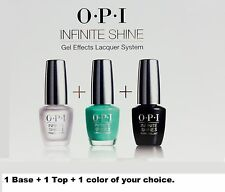 OPI Nail Polish Infinite Shine Base +Top +1 Color of your choice ~ 3 ct ~