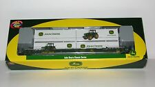 Athearn John Deere 56' Container Well Car & 4 -28' John Deere Containers-NOS-HO