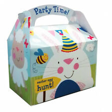 5 x Happy Easter Egg Hunt  Fun Party Gift Loot Favour Lunch Party Treat Boxes