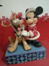 WALT DISNEY TRADITIONS SANTAS BEST FRIEND MICKEY MOUSE & PLUTO BOXED FIGURE