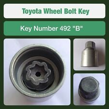 "Genuine Toyota Locking Wheel Bolt / Nut Key 492 ""B"""