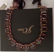 NWT J. Crew 100% Authentic CRYSTAL SWEET VIOLET STATEMENT NECKLACE&Gift Box