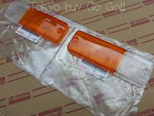 Toyota Mr2 Front Turn Signal Lamp Lens LH +RH set AW11 Genuine OEM Part 1984-89