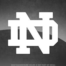 """Notre Dame ND Logo Vinyl Decal Sticker - 4"""" and Larger - 30+ Colors!"""