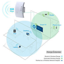 300Mbps Wireless Internet Wifi Router AP Repeater Wall Extender Booster PC JSM3