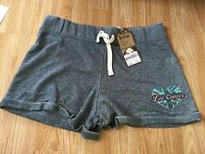 **CLEARANCE** Lee Cooper Womens Burn Out Dark Grey Shorts Size 14 RRP £19.99