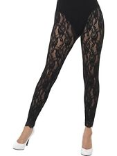 Ladies 80s 1980s 80's Fancy Dress Lace Leggings Madonna New by Smiffy