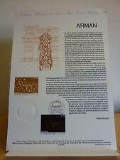 M*  Premier jour * Fiche Musée postal * Arman Sculpture * 1996