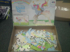 MLP My little Pony Moonstone 3-D Jigsaw Stand Up Puzzle 2 Sided 1984 Hasbro