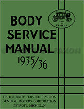 1935 1936 Chevrolet Body Repair Manual 35 36 Chevy Car Fisher Shop Service Book