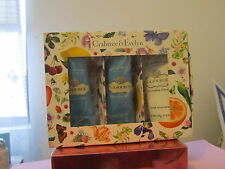 CRABTREE EVELYN  MINI LA SOURCE HAND LOTION THERAPY SET 3 TUBES~~NEW IN GIFT BOX