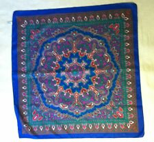 PREOWNED VINTAGE SCARF MULTI COLOR PAISLEY PATTERN CUTE AND PREPPY