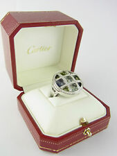 Cartier Pasha Ring 750er Weißgold Diamanten Edelsteine Gr. 54 diamond ring