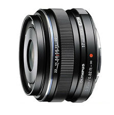 Olympus M.ZUIKO Digital 17mm f/1.8 Lens - Black (White Box)