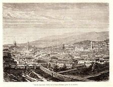 Antique print Gediz, Kütahya Turkey Kadi Cadi  1880