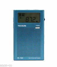TECSUN PL100 Digital FM-Stereo DSP PLL Pocket Radio    BLUE
