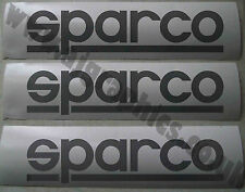 3 x Sparco Vinyl Cut Decals, Graphics, Stickers sponsor logo - Any colour