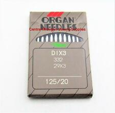 ORGAN NEEDLES PACK OF TEN 29x3 SIZE 20 125/20 SINGER SEWING MACHINE MODEL 29K